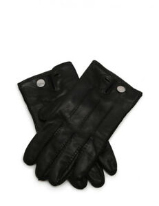 Hermes Cruise Cell Gloves Leather Black Notation size 8 Ladies'