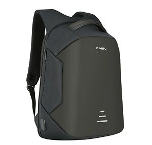 Anti-Theft Waterproof Backpack External USB Charge Port 16