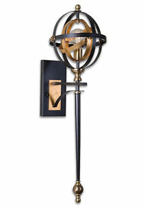 Rondure 1 Light Oil Rubbed Bronze Wall Sconce Light Fixture by Uttermost #22497