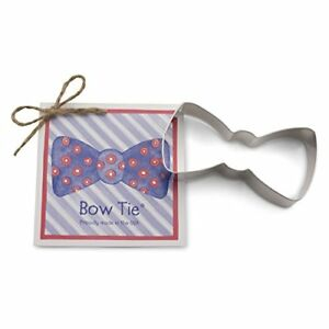 Bow Tie Cookie and Fondant Cutter - Ann Clark - 4 Inches - US Tin Plated Steel 4