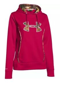 $65 Under Armour Womens Size LARGE Storm Caliber Hoody 1247106 Red Camo NWT