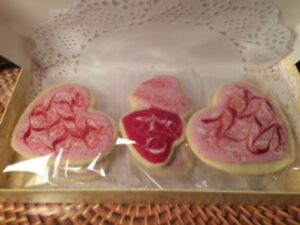 Homemade Valentine Sugar Cookies Large Hearts amp; Double Hearts Gift Box