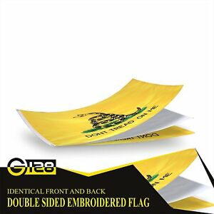 G128 – Gadsden Don't Tread on Me Flag US USA | 2x3 ft | DOUBLE SIDED Embroidered
