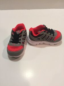 ~NEW UNDER ARMOUR  Sneakers! Size 3K 3 baby shoes gray orange UA