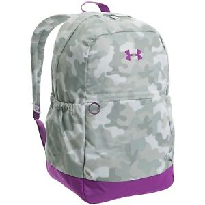 Under Armour UA Storm Favorite Girls Backpack Book Bag Gray CamoPurple NEW