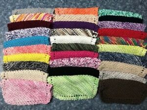 New Hand Knit Dish Cloths Variety of Colors FREE SHIPPING