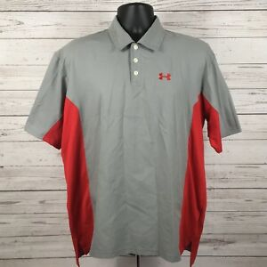 Under Armour Dry Fit Classic Polo Shirt Golf Button-Down Polyester Size Med