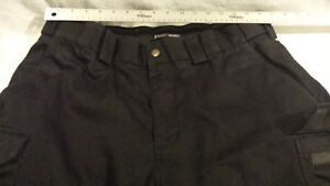 Mens 5.11 Tactical Series Poly Black 38x31 Cargo Military Police Style Trousers