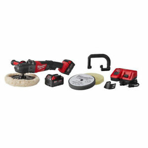 "Milwaukee 2738-22P M18 FUEL 7"" Variable Speed Buffer Polisher Kit W 2 Batteries"