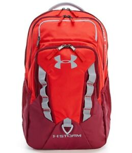 Brand New Under Armour Storm Recruit Laptop Travel Backpack Book school bag RED