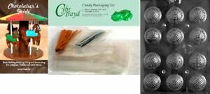 Cybrtrayd Golf Balls 3D Chocolate Mold with Chocolatier's Bundle Includes 50 Ce