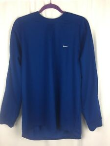 Nike Fit Dry Blue Long Sleeve Shirt Men's size Small