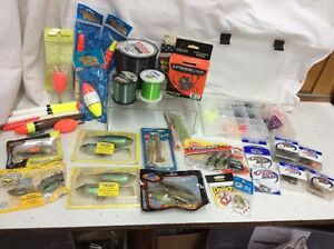 Huge Lot of fishing supplies!! spiderline thunder chicken yo-zuri stormBetts