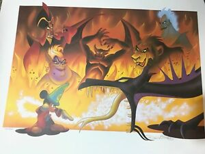 Disney Cast Exclusive Lithograph Hand Signed Mickeys Fantasmic Limited Don Ducky