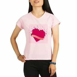 Royal Lion Womens Sports T-Shirt Happy Valentines Day Hearts - Pink 2X
