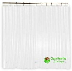 Heavy Duty PEVA Shower Curtain Liner Odorless Anti Mold Heavy Weight Clear Color