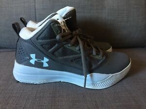 Under Armour Jet Mid Women Basketball Shoes Graphite & Ion Blue Size 6.5