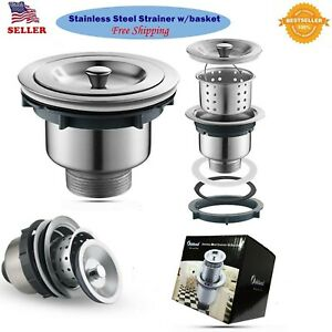 Stainless Steel Kitchen/Bar Sink Strainer With Filter Basket Drain Head Stopper