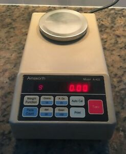DIGITAL AINSWORTH A-400  SCALE WEIGHTS GRAINS & GRAMS