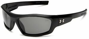 Under Armour Men's Power Sunglass Satin Black FrameGray Lens New Free Shipping