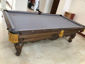 Handcrafted Pool Table by Master Woodcrafter Charles A Porter * ONE OF A KIND *