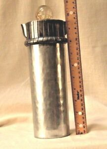 1930-40's Deco Aluminum hammered BUENILUM cocktail shaker wball finialscarce