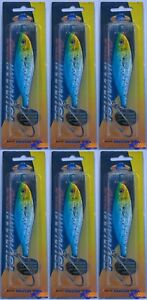 LOT OF 6 Tsunami Pro - Deep Wave Lure -  4-12oz 4
