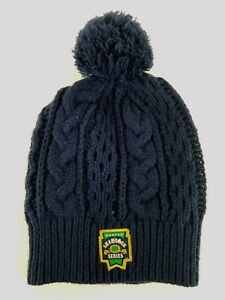 Notre Dame Under Armour Boston Shamrock Series Navy Womens Cable Knit Beanie Hat