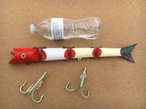 Vintage Martin Triple Jointed SalmonMuskie Fishing Lure In Box