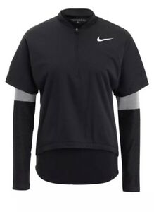 Womens Nike Golf Aerolayer 2 In 1 Set Dri Fit Shirts Black 831439 010 Sz XL $250
