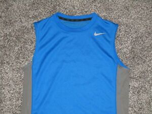 Nike Dri Fit Sleeveless Athletic Shirt Youth Large Blue & Gray