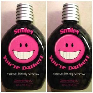 QTY 2 Designer Skin Smile You're Darker Maximum Bronzing Tanning Lotion Youre
