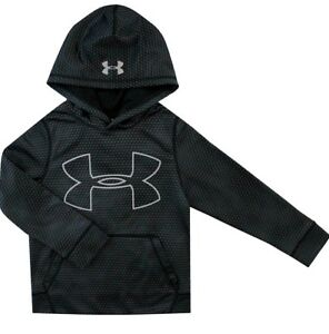 Under Armour Boys Storm Cold Gear Black Gray Sweatshirt Hoodie NWOT SZ Small 78