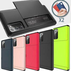 For Samsung Galaxy S10 PlusS9S8Note 9 Case Cover With Card Wallet Holder Slot