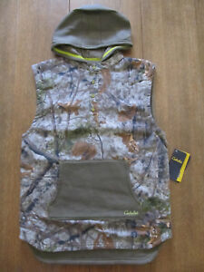 New CABELA'S Youth Adventure Vest Zonz Woodland Camo 2XL