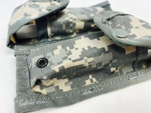 US Military Double 223 ACU Molle Pouch Digital SF 5.56Ammo Mag Magazine 7.62