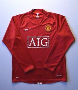 4.85 MANCHESTER UNITED 2007~2008 NIKE FOOTBALL JERSEY SHIRT LONG SLEVEE