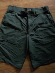 Mens Under Armour Dark Green Golf Shorts Size 34 Heat Gear
