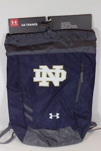 NWT UNDER ARMOUR UA NOTRE DAME FIGHTING IRISH SACKPACK NAVY BLUE COLLEGE