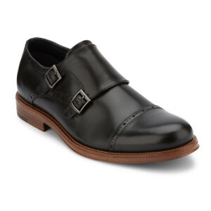 Dockers Mens Maycrest Genuine Leather Dress Monk Strap Lace-up Oxford Shoe