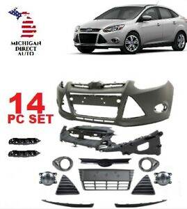 2012 2013 2014  FORD FOCUS FRONT BUMPER COVER COMPLETE W FOG LIGHTS SEL SE