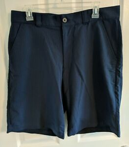 Men's Under Armour Golf Shorts Navy Blue Pinstripe Size 34