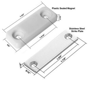 Plastic Sealed Gate Magnetic Latch and Stainless Steel Strike Plate