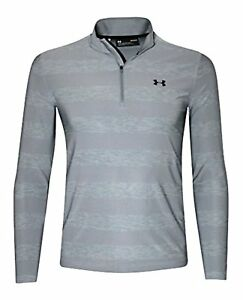 Under Armour Men's Playoff Long Sleeve Polo 14 Zip Shirt Striped Heather