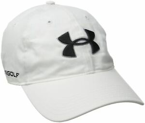 Under Armour Men's Chino Cap Hat White One Size Adjustable Golf New Free Shippin