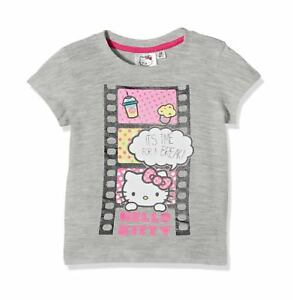 Hello Kitty Girl's Time For A Break T-Shirt Grey (Sport Grey)