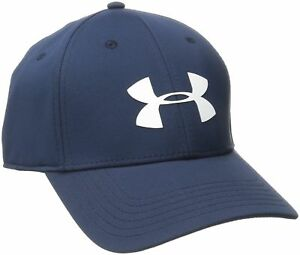 Under Armour Men's Golf Headline Hat Cap BlueWhite LargeX-Large New Free Ship