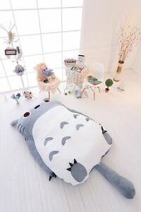 soft cute single Totoro Cartoon Bed Mattress Large Bean Bag Lounge high qualitY