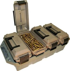 Plastic Waterproof Ammo Crate Shotgun 308 22 9mm 223 Lockable Stackable Box NEW