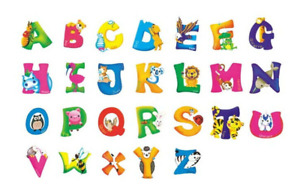 A Z Alphabet with Animals Kids Wall Stickers for home nursery decorations GBP 2.99